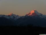 Mount Cook bij zonsondergang
