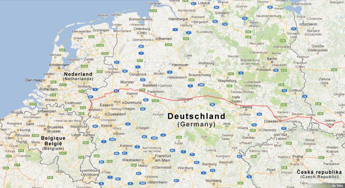 Fietsroute door Duitsland
