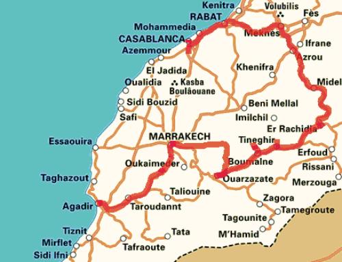 Fietsroute door Marokko